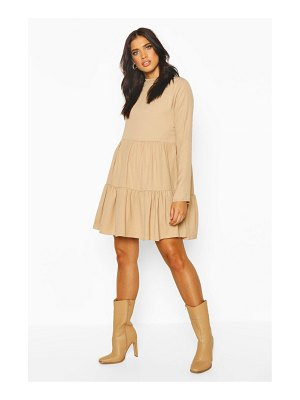 Boohoo High Neck Tiered Volume Sleeve Dress