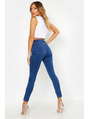 Boohoo High Rise All-Inclusive Distressed Stretch Jeggings