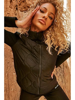 Boohoo High Shine Quilted Body Active Tech Jacket