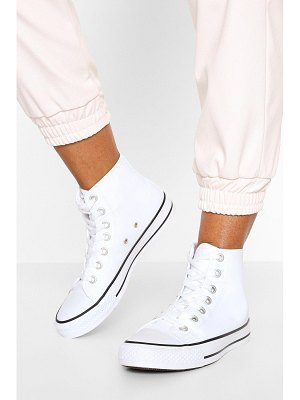 Boohoo High Top Lace Up Sneakers