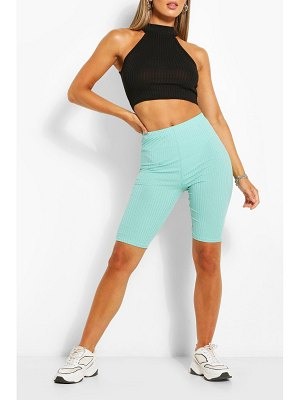 Boohoo High Waist Ribbed Cycling Short