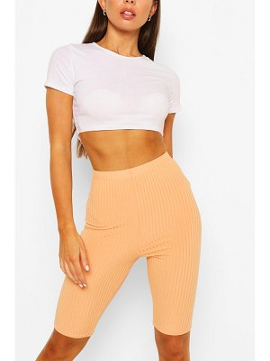 Boohoo High Waist Ribbed Cycling Shorts