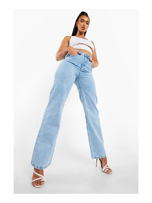 Boohoo High Waisted Acid Wash Boyfriend Jean