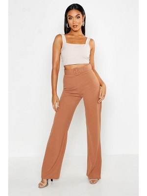 Boohoo High Waisted Belted Pants