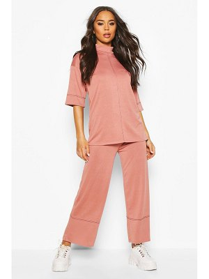 Boohoo High Waisted Culottes With Contrast Stitching