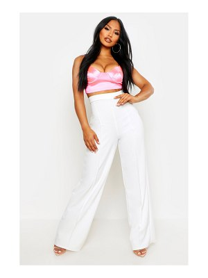 Boohoo High Waisted Seam Front Wide Leg Pants