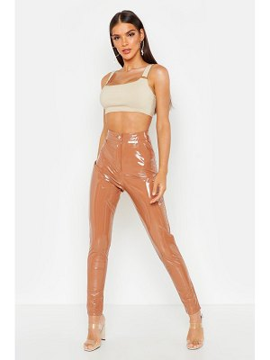 Boohoo High Waisted Vinyl Skinny pants