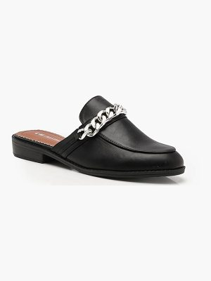 Boohoo Hollie Chain Detail Mule Loafers