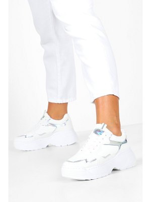 Boohoo Holographic Panel Chunky Sole Sneakers