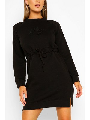 Boohoo Honey Embroidered Sweater Dress