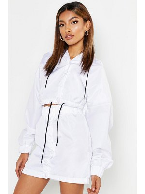 Boohoo Hooded Button Through Track Jacket