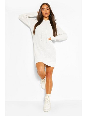 Boohoo Hooded Knitted Cropped Dress