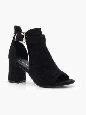 Boohoo Buckle Cut Work Shoe Boots