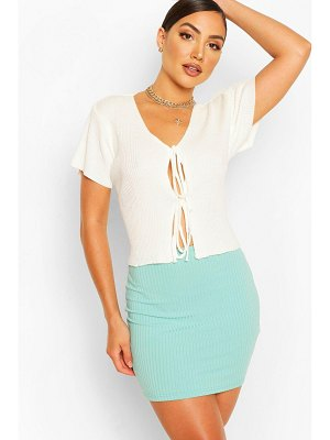 Boohoo Jumbo Rib Mini Skirt