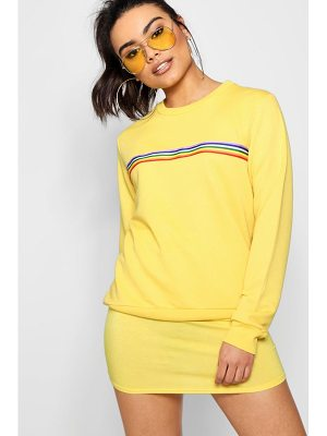 Boohoo Bright Sports Stripe Sweat