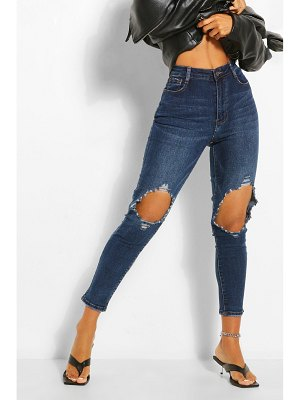 Boohoo Knee Rip Distressed Skinny Jean