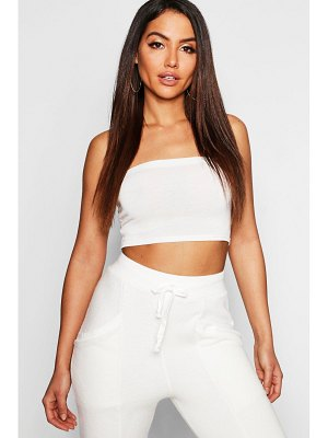 Boohoo Knitted Bandeau Top