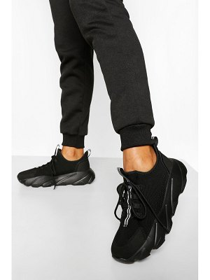 Boohoo Knitted Chunky Platform Sneakers