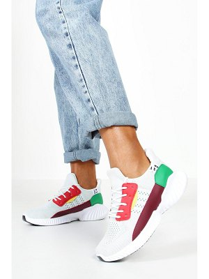 Boohoo Knitted Colour Block Chunky Sole Sneakers