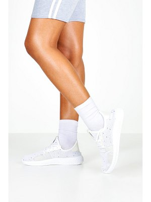 Boohoo Knitted Lace Up Sports Sneakers