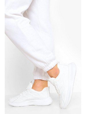 Boohoo Knitted Panel Chunky Sports Sneakers
