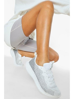Boohoo Knitted Running Sneakers