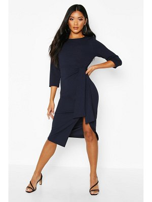 Boohoo Knot Detail Midi Dress