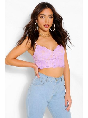 Boohoo Lace Button Detail Bralet
