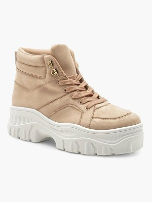 Boohoo Lace Up Chunky High Top Sneakers