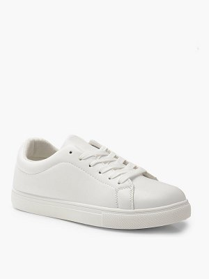 Boohoo Lace Up Flat Sneakers