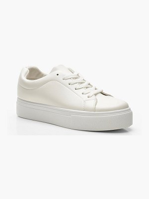 Boohoo Lace Up Platform Sneakers
