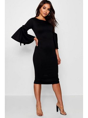 Boohoo Tie Sleeve Detail Midi Dress