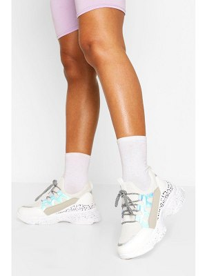 Boohoo Leopard Panel Chunky Sneakers