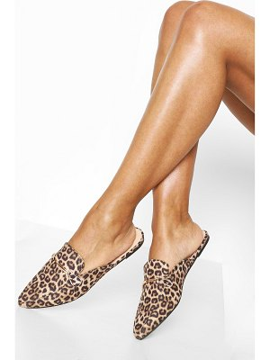 Boohoo Leopard Pointed Mules