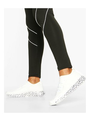 Boohoo Leopard Print Sole Knitted Sports Sneakers