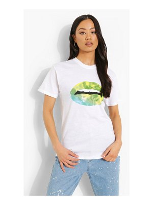Boohoo Lip Print Oversized T-Shirt