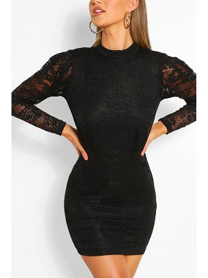 Boohoo Long Sleeve Bodycon Mini Dress