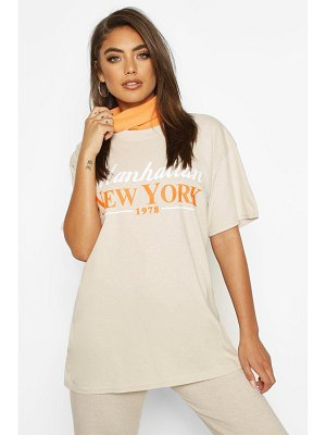 Boohoo Manhattan New York Slogan T-Shirt