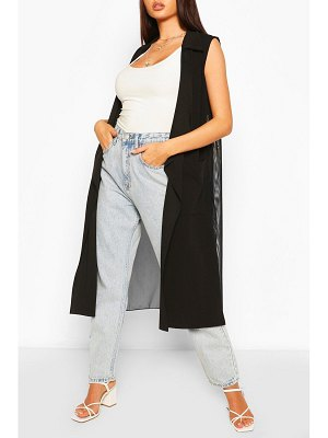 Boohoo Mesh Back Sleeveless Jacket
