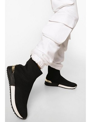 Boohoo Metal Trim Knitted Sock Sneakers