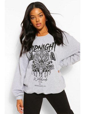 Boohoo Midnight Graphic Oversized Sweater
