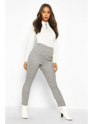 Boohoo Mini Dogtooth flannel Slim Fit Woven Trouser