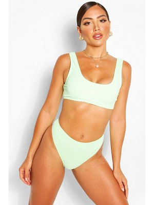 Boohoo Mix And Match Crinkle High Waist Brief
