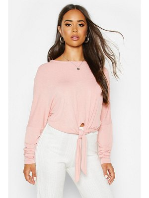 Boohoo Mix & Match Knot Front Soft Lounge Top