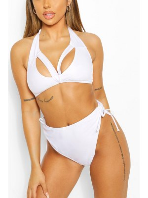 Boohoo Mix & Match Split Front Triangle Bikini Top