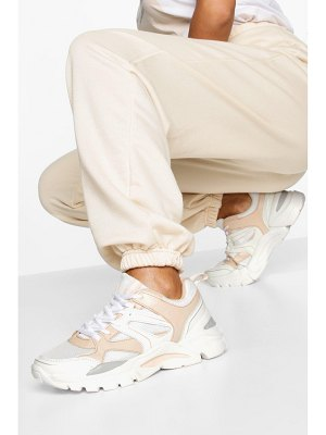 Boohoo Mixed Panel Chunky Sole Sneakers