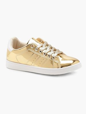 Boohoo Molly Metallic Lace Up Trainers