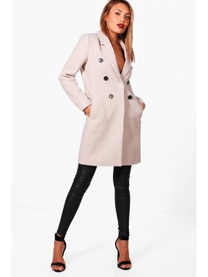 Boohoo Double Breasted Wool Look Coat