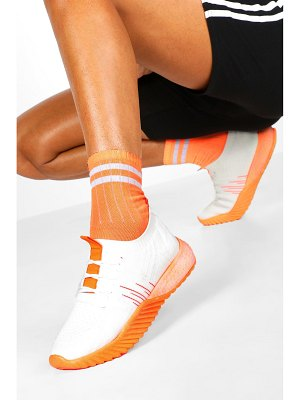 Boohoo Neon Sole Knitted Sports Sneakers