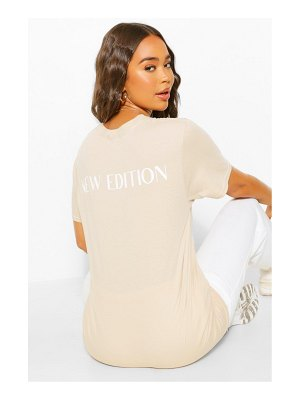 Boohoo New Edition Back Slogan T Shirt
